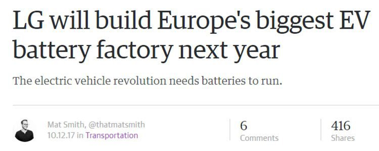 LG electric battery factory