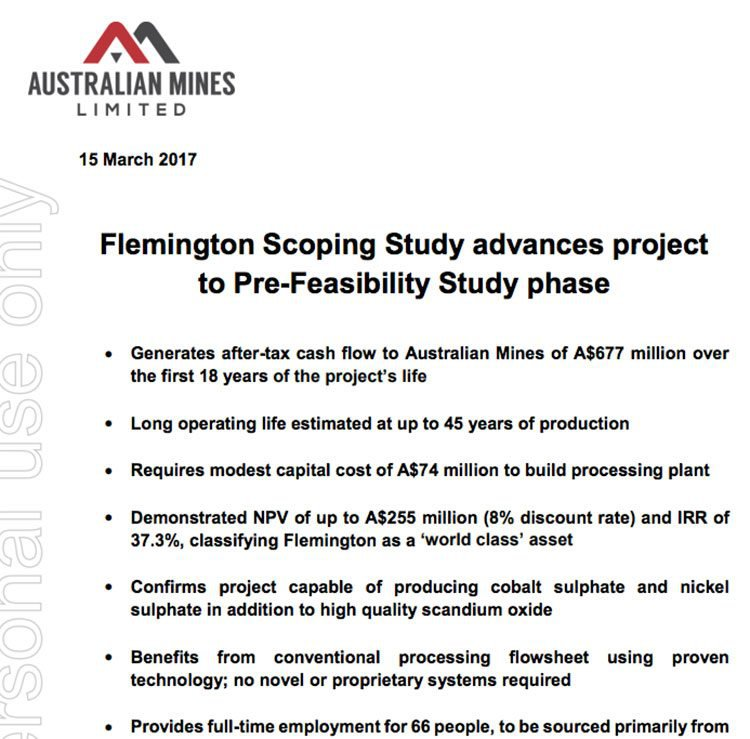 Flemington scoping study AUZ