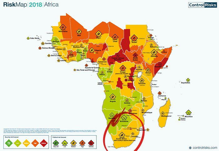 Africa risk regions assessment