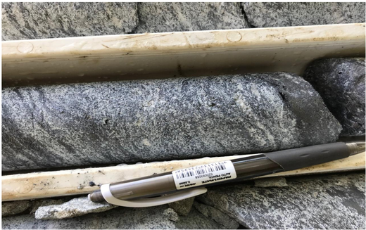 Drill core from Razafy prospect