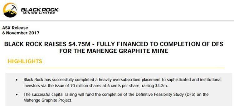black rock mining mahenge