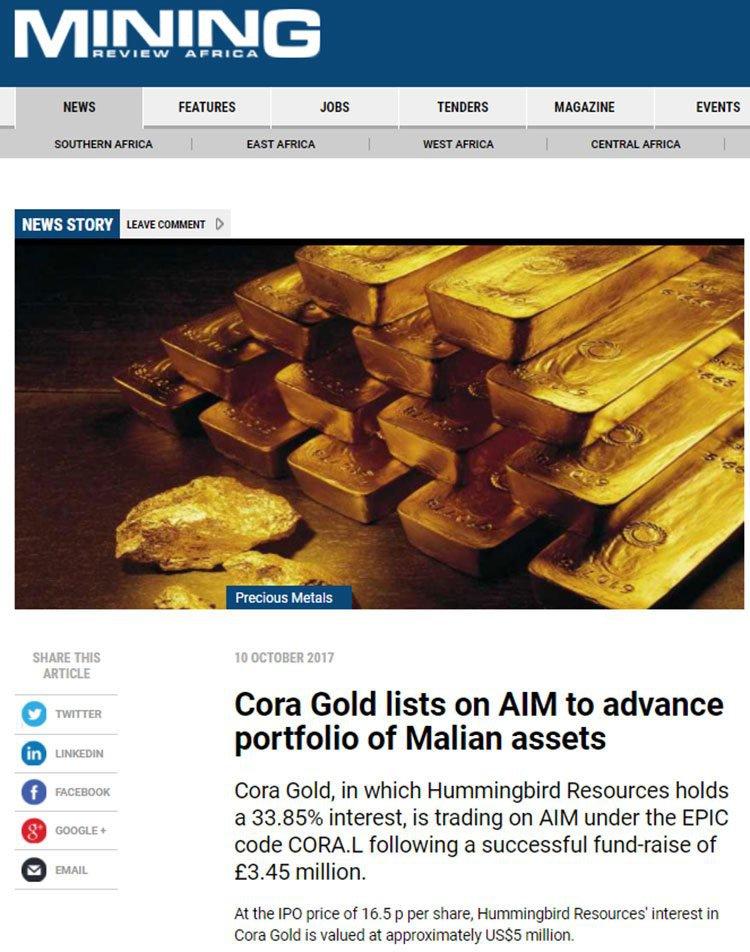 cora gold AIM
