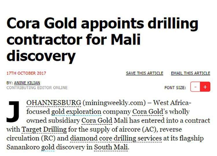 Mali gold discovery