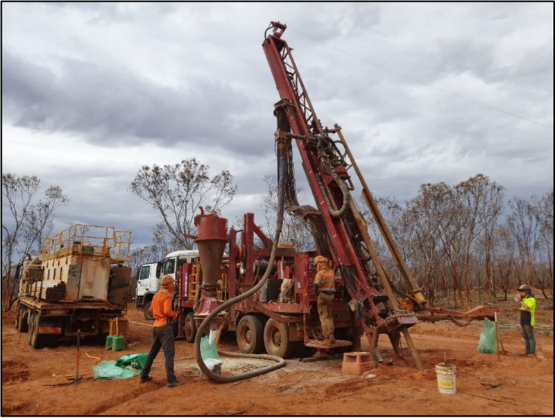 RC Drilling Rig at Galileo's Fraser Range Lantern Prospect Drill Site