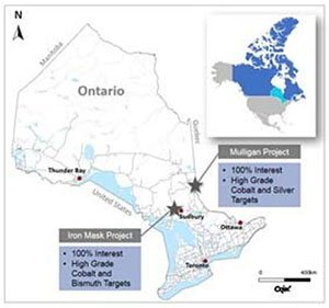 Meteoric resources Ontario holdings