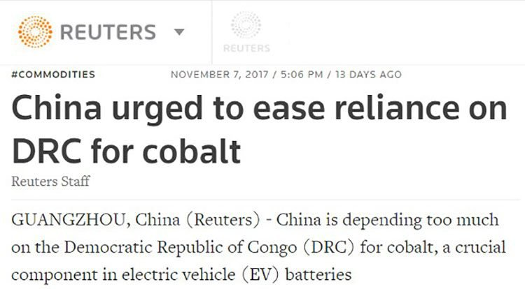 china cobalt reliance