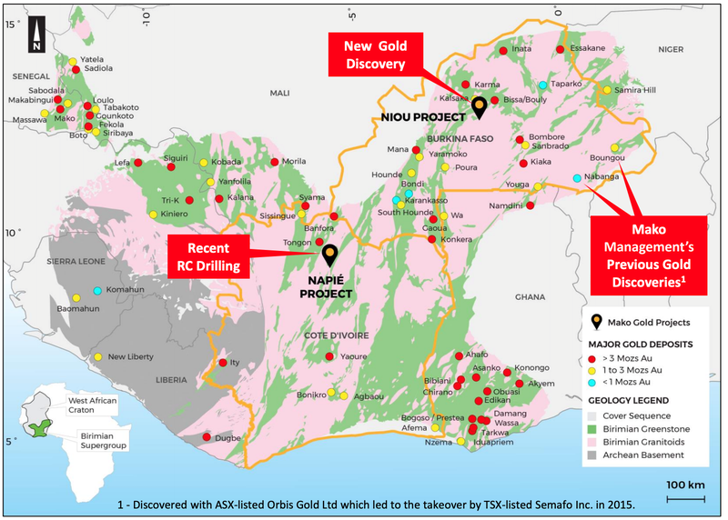 Mako Gold Projects - West Africa