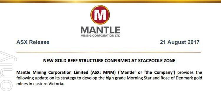 Mantle mining ASX