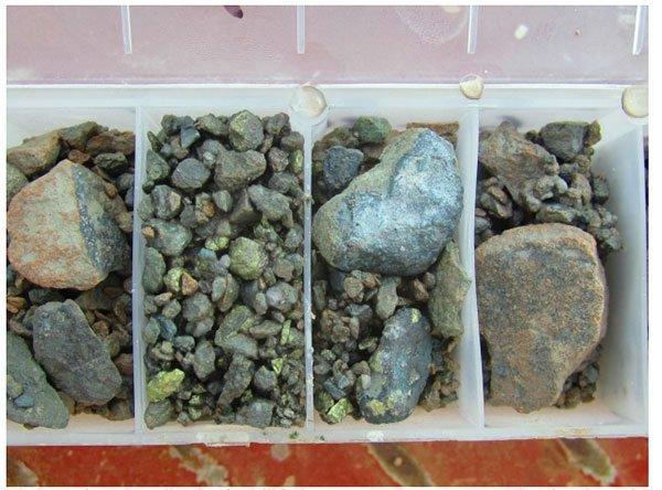 northern cobalt rock samples