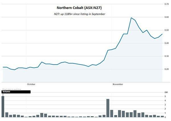 northern cobalt share price