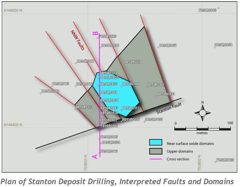 Stanton deposit drilling