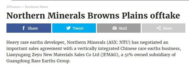Northern minerals nine finance