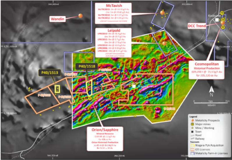 Niagara (Kookynie) Project – Aeromagnetic Survey Results