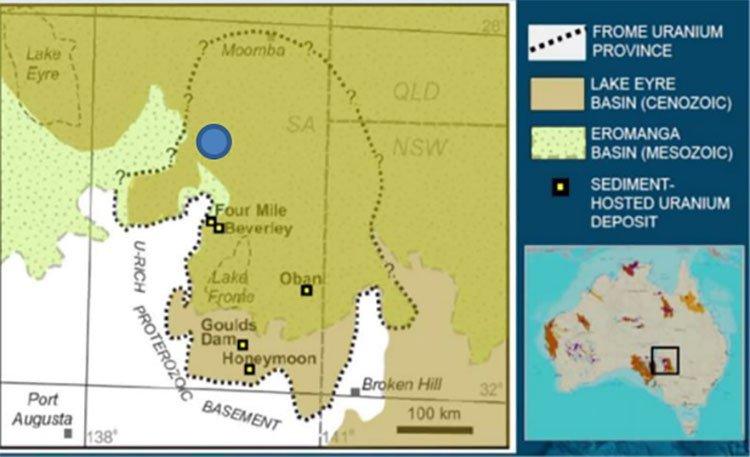 Lake Blanche uranium province