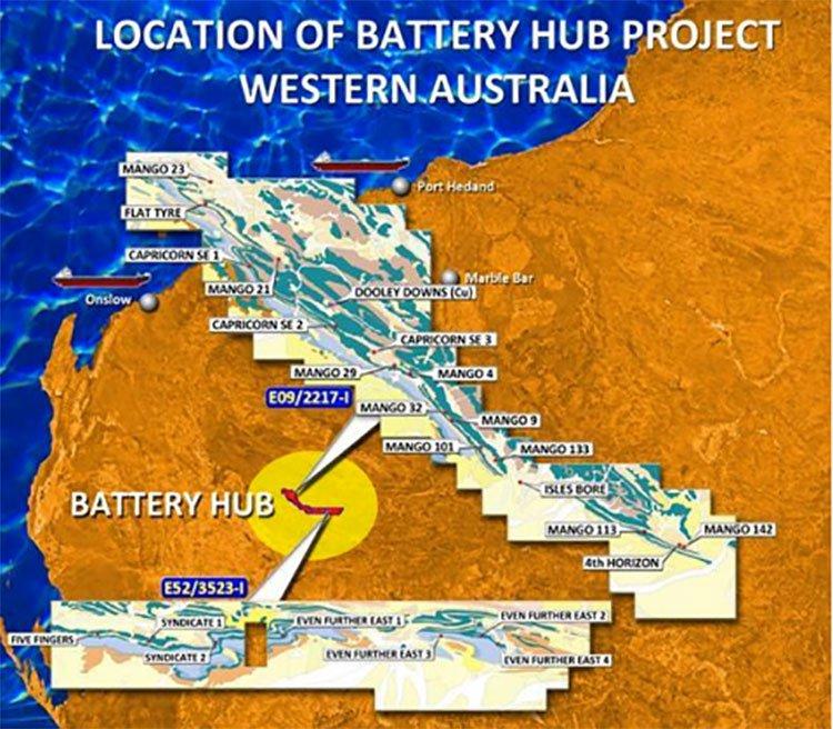 Battery hub project Western Australia