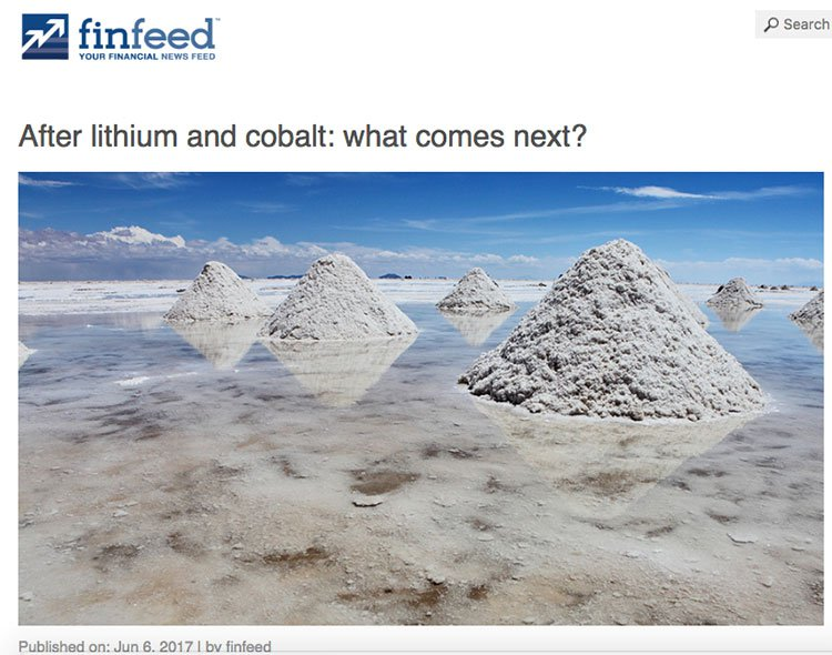 What comes after lithium and cobalt