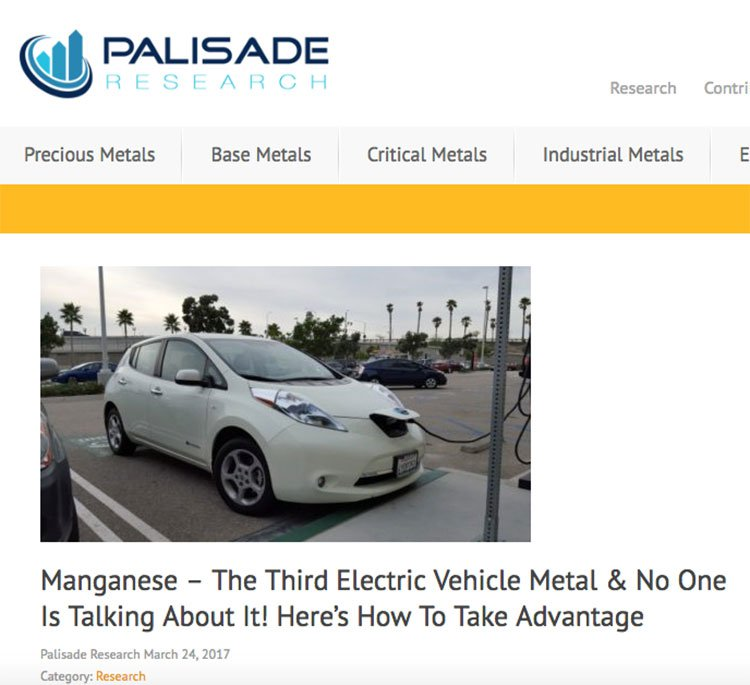 Manganese electric car