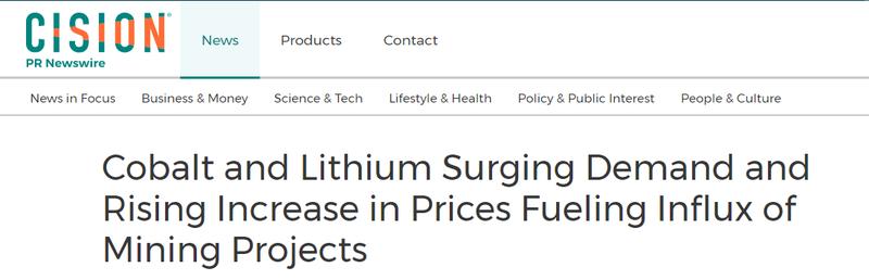 Lithium and cobalt demand