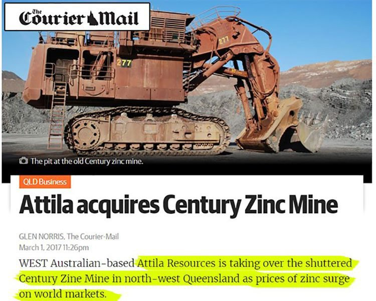 Attila resources courier mail