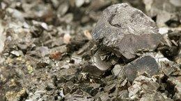 Ore rocky crystal texture closeup