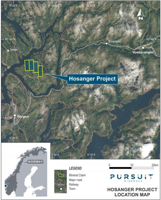 Hosanger Project Location
