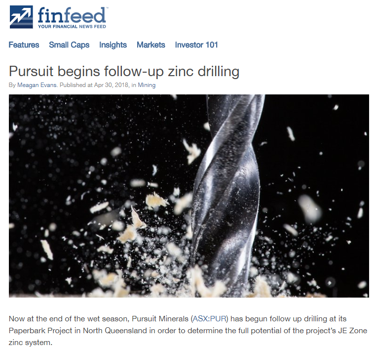 Paperbark zinc project drill program