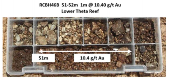 Lower theta reef samples
