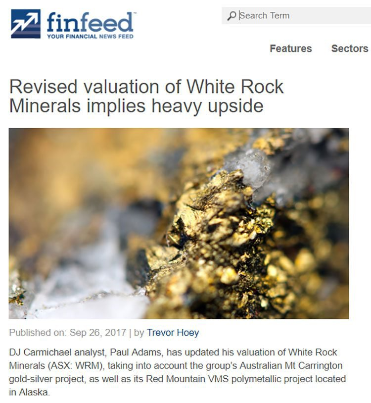 White rock minerals upside