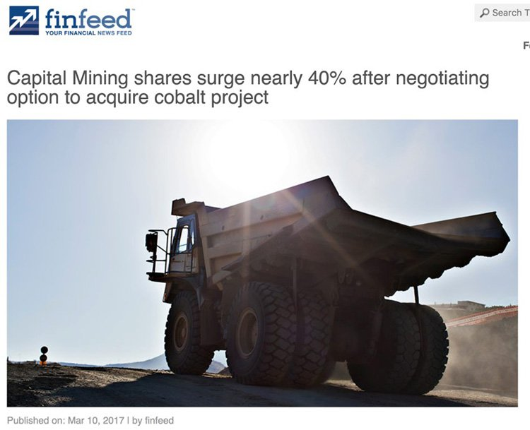 Capital mining shares surge