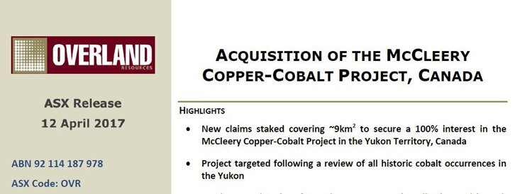 McCleery Copper-Cobalt Project