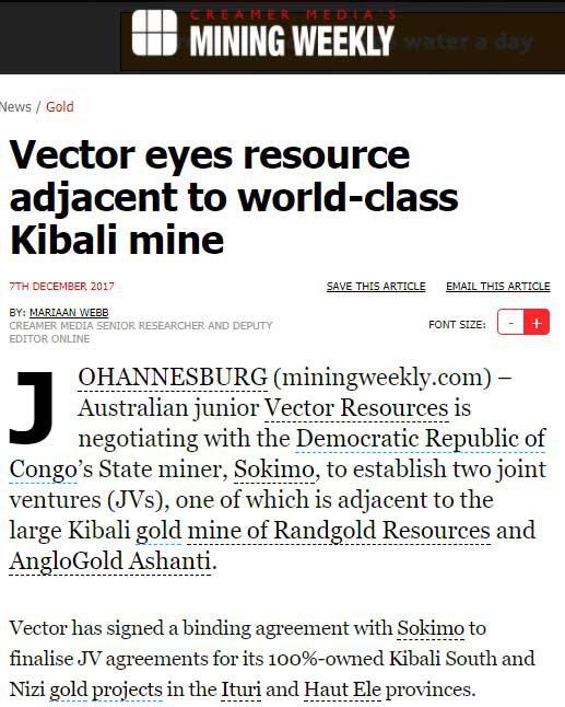 vector kibali mine