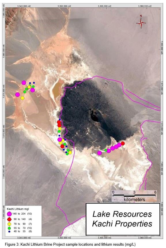 Sample area locations at the Kachi site