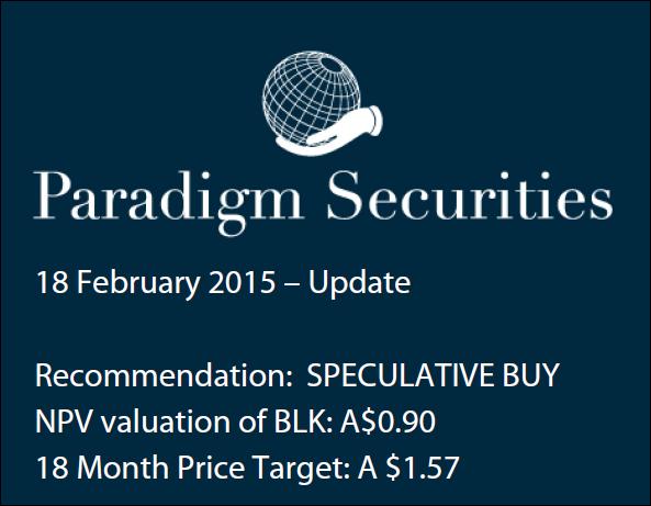 Paradigm Securities price target on Blackham Resources (ASX:BLK)